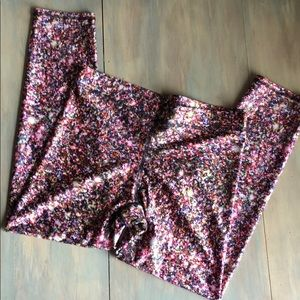 Terez Glitter Capri Leggings size Medium